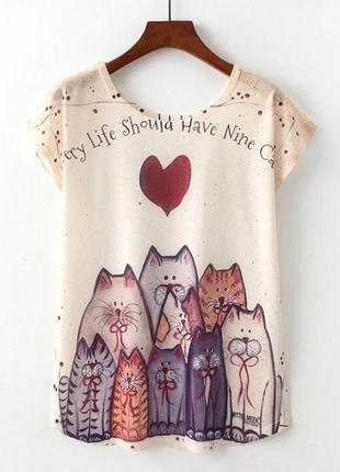 Летняя женская футболка. в наличии. размер l.