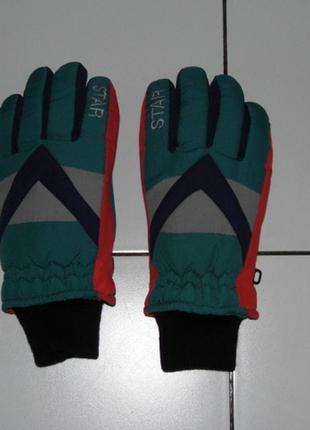 Лыжные перчатки мальчику star - 7 размер - сток