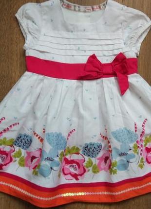 Сказочное нарядное платье сарафан marks&spencer на 3-6 месяцев