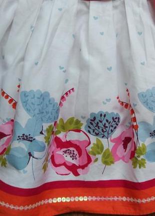 Сказочное нарядное платье сарафан marks&spencer на 3-6 месяцев6 фото