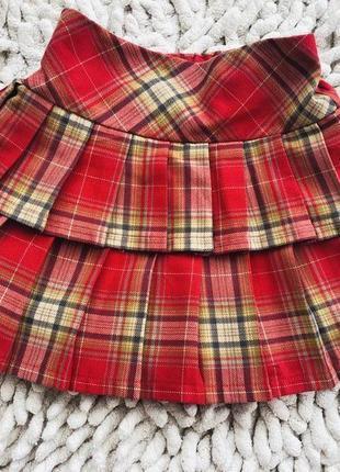 Красивая юбка в складку на 2-4 года