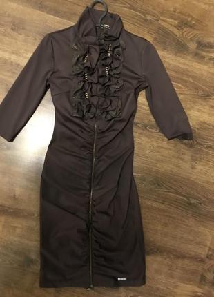 Турецкое платье defile шоколадного цвета