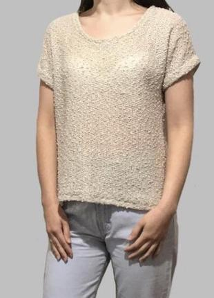 Вязаная летняя футболка