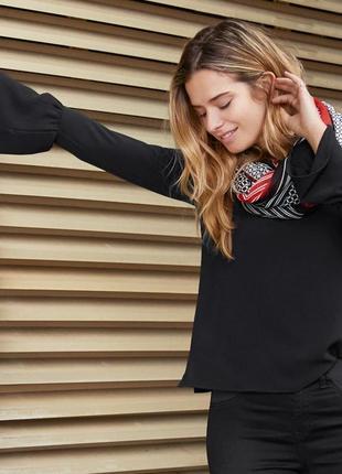 Стильная , оригинальная элегантная блузка из крепа от тсч чибо германия