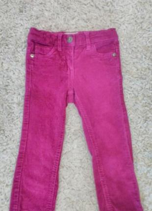 Вильветовые джинсы на девочку
