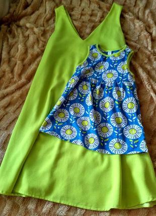 Яскраве плаття сарафан atmosphere кольору лайм платье яркое