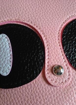 Есть выбор! новая крутая добротная розовая округлая круглая сумка кроссбоди котик кот4 фото