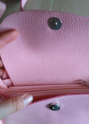 Есть выбор! новая крутая добротная розовая округлая круглая сумка кроссбоди котик кот6 фото