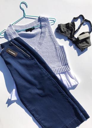 Базовые итальянские джинсовые кюлоты calzedonia4 фото