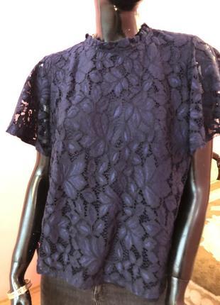 Блуза шикарная, темно синяя размер 48-502 фото