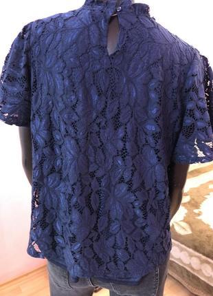 Блуза шикарная, темно синяя размер 48-504 фото