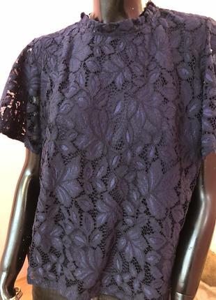 Блуза шикарная, темно синяя размер 48-505 фото