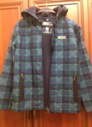 Куртка на мальчика 11 лет с капюшоном внутри флисовая