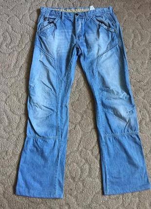 Классные джинсы муж с потертостью m (46-48)