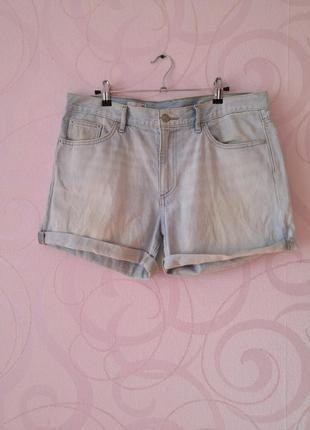 Светлые джинсовые шорты, большой размер