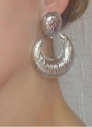 Серьги в стиле zara зара сережки серебро