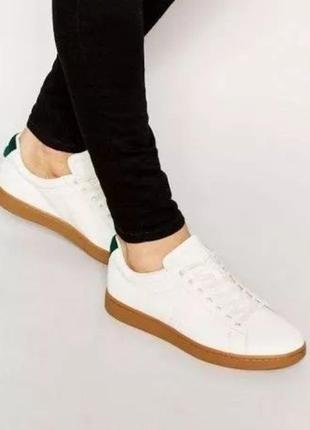 Кроссовки кожаные туфли lacoste carnaby оригинал