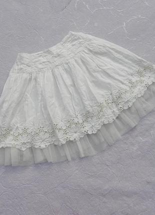 Замечательнкая юбка юбочка хлопок marks & spencer 7лет 122см