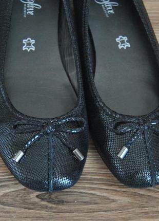 Кожаные балетки footglove / шкіряні балетки2 фото