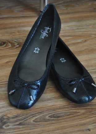 Кожаные балетки footglove / шкіряні балетки1 фото