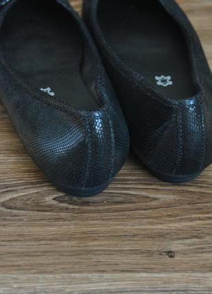 Кожаные балетки footglove / шкіряні балетки5 фото