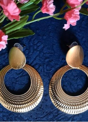 Серьги в стиле zara зара сережки золото винтаж