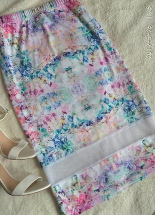 Шикарная юбка миди с сеточкой