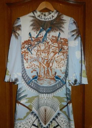 Оригинальное дизайнерское платье aloha р. s