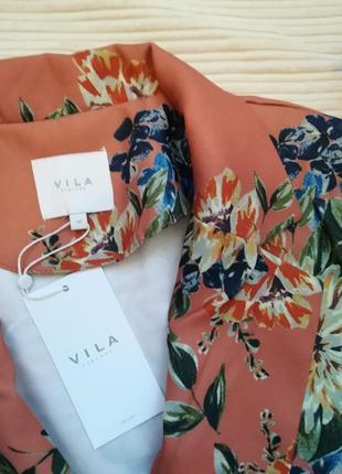 Супер стильный пиджак жакет в цветочный принт vila clothes5 фото