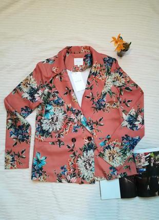 Супер стильный пиджак жакет в цветочный принт vila clothes4 фото