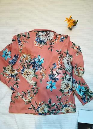 Супер стильный пиджак жакет в цветочный принт vila clothes6 фото