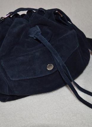 Сумка-мешок из натуральной замши