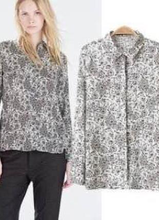 Блуза рубашка zara
