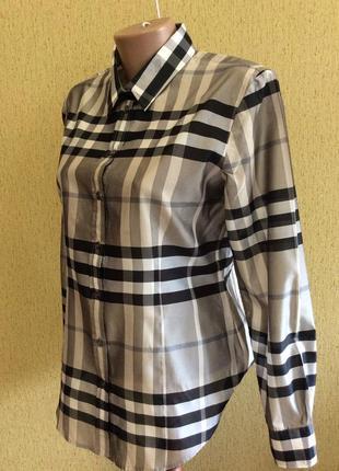 Женская рубашка burberry london оригинал клетка перелив размер 12