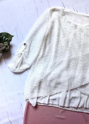 Шикарная  нарядная блузка италия1 фото