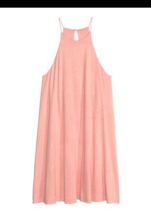 Платье трапеция на тонких бретелях от h&m