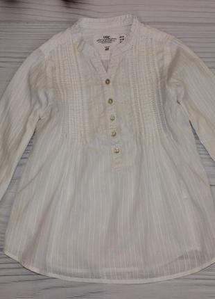 Белоснежная рубашка h&m на 5-6л