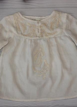 Шикарная блуза zara на 3-4г