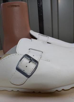 Ортопедические кожаные шлепанцы шлепки сланцы тапки германия gosoft