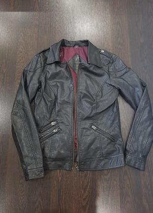 Стильная куртка из эко кожи, косуха