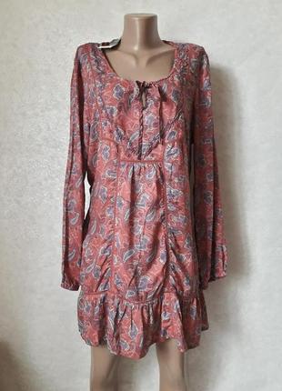 Фирменная f&f с биркой плжна туника/пляжноет платье в орнамент, размер 5хл