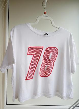 Нова біла футболка h&m