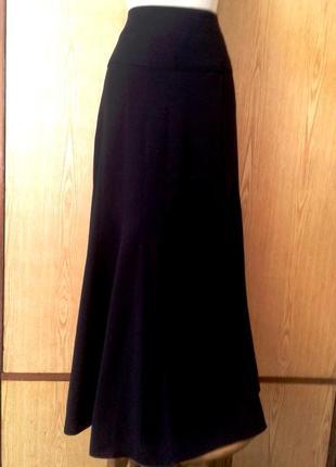 Темно-синяя длинная юбка на высокой кокетк ,3xl - 4xl.