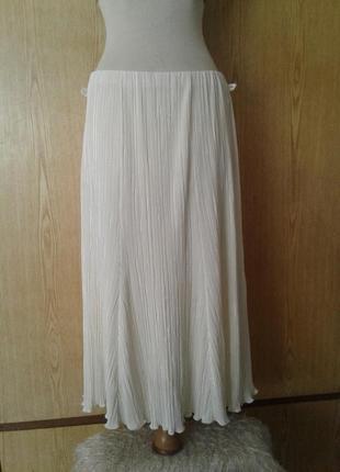 Гофрированная белая юбка, l.2 фото