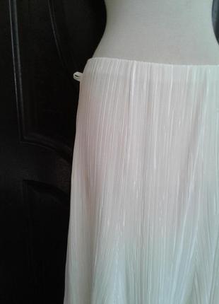 Гофрированная белая юбка, l.3 фото