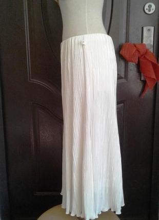 Гофрированная белая юбка, l.4 фото