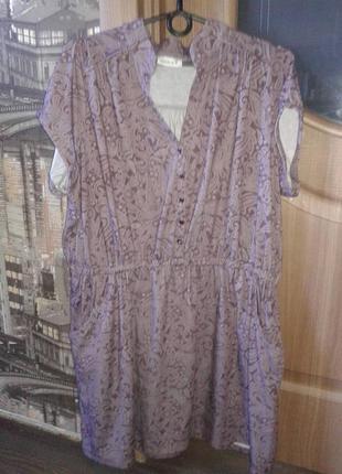 Красивое трикотажное платье 48р