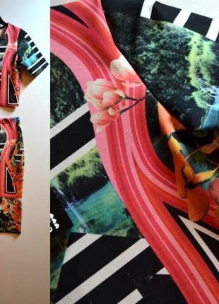Новый стильный костюм(юбка и топ) 44 размер2 фото