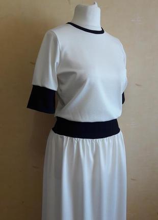 Белое платье в стиле спорт шик3 фото