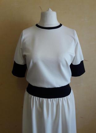 Белое платье в стиле спорт шик5 фото